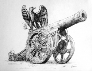 dessin illustration canon aigle Napoléon eagle